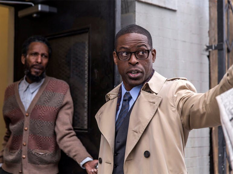 Ron Cephas Jones as William, left, and Sterling K. Brown as Randall in