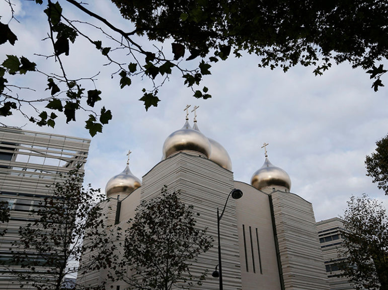 View of the Russian Orthodox Cathedral Sainte-Trinite, with the Spiritual and Cultural centre, during its inauguration in Paris