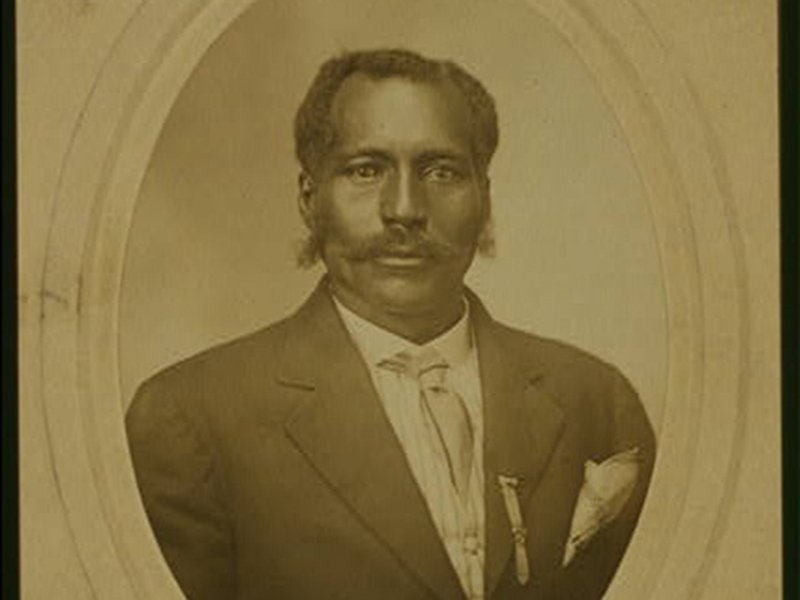 Portrait image of lynching victim Anthony Crawford, lynched in Abbeville, SC, 1916. Image was taken around 1910.