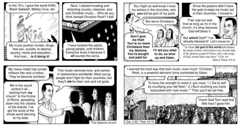 An example of Jack Chick's tracts. Credit: http://comicsalliance.com/files/2016/04/jack-chick-02.jpg