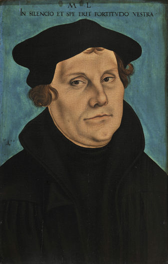 Lucas Cranach the Elder, Martin Luther, 1529. Oil on panel. Photo courtesy of the Morgan LIbrary & Museum