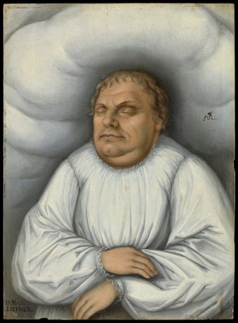 Follower of Lucas Cranach the Elder Martin Luther on his Deathbed, before 1600 © Deutsches Historisches Museum. Photo courtesy of Martin Luther: Art and the Reformation, via Minneapolis Institute of Art