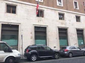 Site of proposed McDonald's outlet near St. Peter's Square in Rome. RNS photo by Josephine McKenna