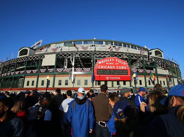 A general view outside of Wrigley Field before game six of the 2016 NLCS playoff baseball series. Wrigley Field will host a World Series game for the first time in 71 years on October 28, 2016. Photo by Jerry Lai/USA Today