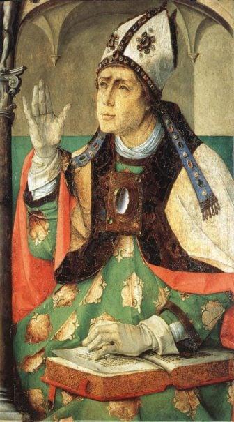 St. Augustine, oil on wood.