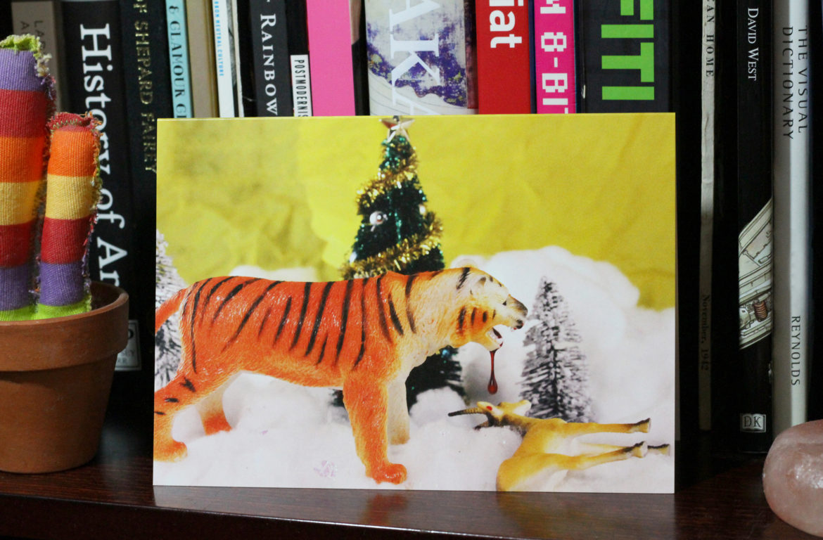 A still life card with tiger from Perpetual Fungus. Photo courtesy of Perpetual Fungus