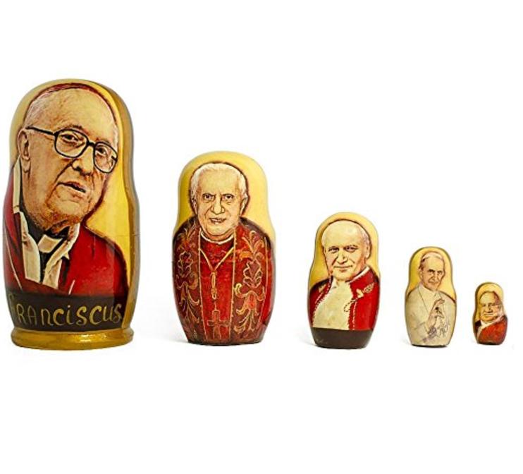 Pope nesting dolls.