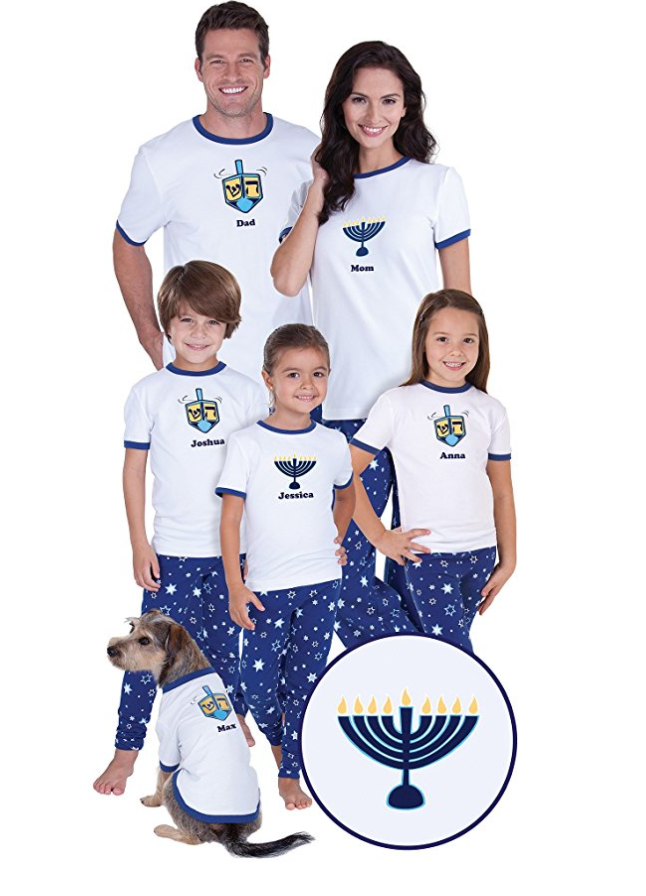 Chanukah Matching Pajamas for the Whole Family.