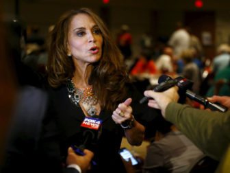Political blogger Pamela Geller, American Freedom Defense Initiative's Houston-based founder, speaks at the Muhammad Art Exhibit and Contest, which is sponsored by the American Freedom Defense Initiative, in Garland, Texas May 3, 2015. Two gunmen opened fire on Sunday at the art exhibit in Garland, Texas, that was organized by an anti-Islamic group and featured caricatures of the Prophet Mohammad and were themselves shot dead at the scene by police officers, city officials and police said. Photo by Mike Stone, courtesy of Reuters