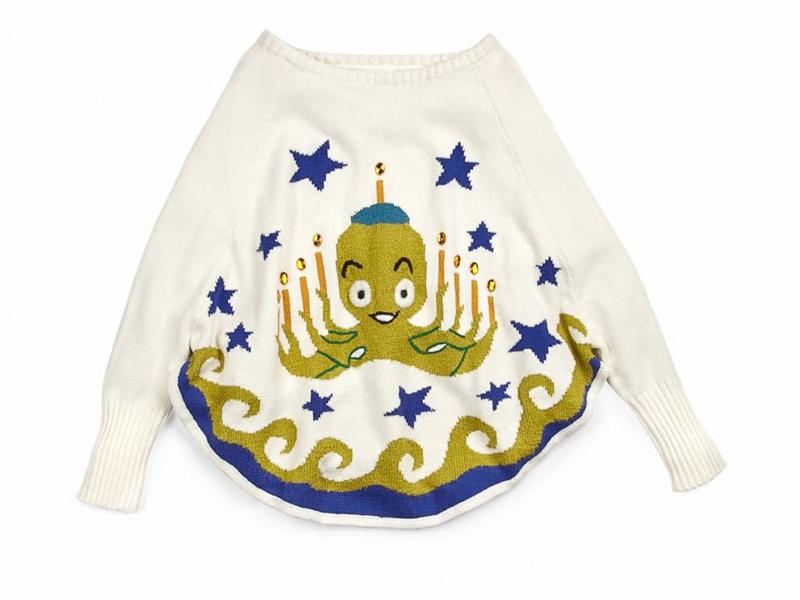 Whoopi Goldberg's octopus Hanukkah sweater.
