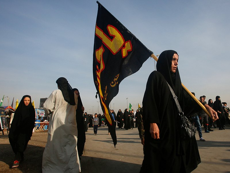 Shi'ite Muslim pilgrims walk to the holy city of Kerbala, Iraq, ahead of the holy Shi'ite ritual of Arbaeen, on November 15, 2016. The Shi'ite ritual of Arbaeen marks the end of a 40-day mourning period for the killing of Prophet Mohammad's grandson Hussein 13 centuries ago. Photo courtesy of Reutersl Mousily *Editors: This photo may only be republished with RNS-ARBAEEN-IRAQ, originally transmitted on Nov. 21, 2016.