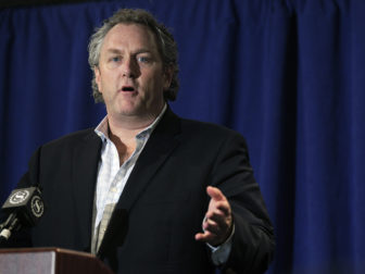 Conservative journalist Andrew Breitbart speaks at a news conference prior to U.S. Congressman Anthony Weiner (D-NY) in New York, on June 6, 2011. Representative Anthony Weiner admitted on Monday to sending a lewd photo of himself to a 21-year-old female college student over his Twitter account after previously denying he had done so. Photo courtesy of Reuters/Brendan McDermid