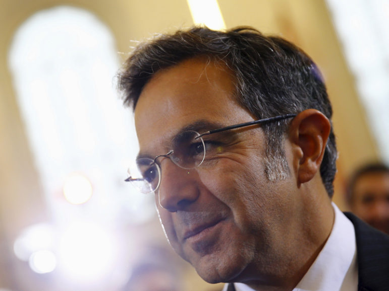 German writer Navid Kermani arrives for the ceremony to receive the Peace Prize of the German book trade (Friedenspreis des Deutschen Buchhandels) at the Church of St. Paul in Frankfurt, Germany, on Oct. 18, 2015. Photo courtesy of Reuters/Kai Pfaffenbach *Editors: This photo may only be republished with GERMANY-PRESIDENT, originally transmitted on Nov. 7, 2016.