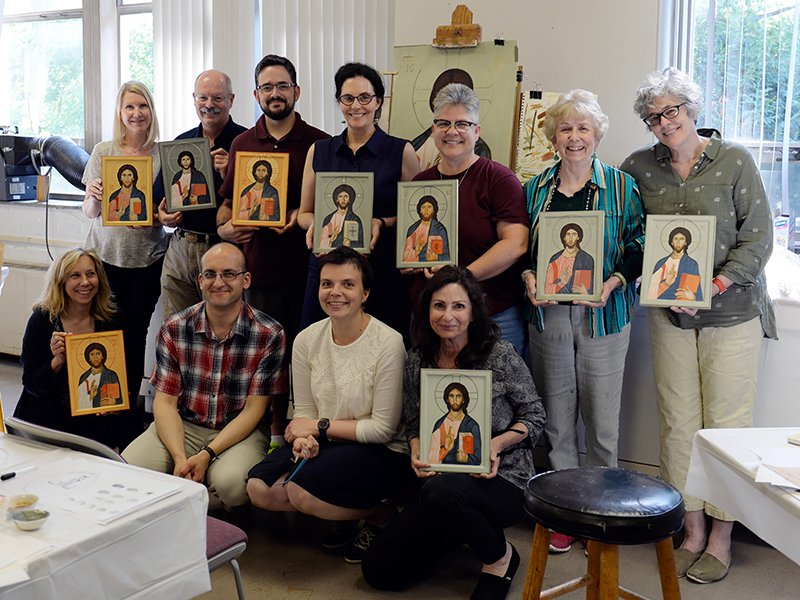 Wesley Theological Seminary, a United Methodist-affiliated school a mile and a half away, also held an iconography class taught by Philip Davydov, another Russian iconographer. Photo courtesy of Wesley Theological Seminary