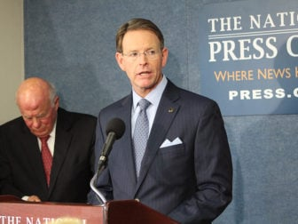 Tony Perkins, Family Research Council Action, speaks during a press conference in Washington, D.C., on Nov. 9, 2016. RNS photo by Jerome Socolovsky
