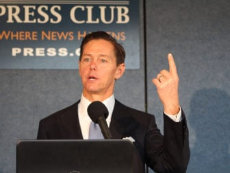 Ralph Reed speaks at the National Press Club about the evangelical vote on Nov. 9, 2016. RNS photo by Jerome Socolovsky