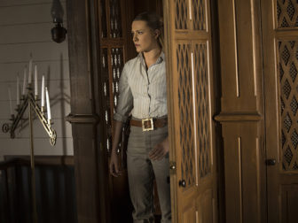 A scene from episode 9 with Evan Rachel Wood. Photo by John P. Johnson/HBO