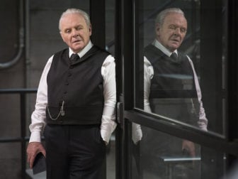 "Anthony Hopkins plays Ford, the God-like progenitor of the robot ""hosts"" in ""Westworld."" Photo by John P. Johnson/HBO"