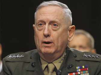 U.S. Marine Corps General James Mattis testifies before the Senate Armed Services Committee in Washington on March 5, 2013. Photo courtesy of Reuters/Gary Cameron
