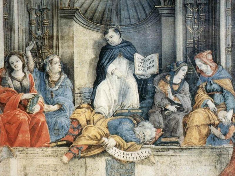 """Triumph of St. Thomas Aquinas Over the Heretics"""