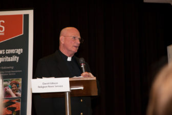 "Monsignor Alan F. Detscher, STD, pastor of St. Catherine of Siena Parish, Riverside, Conn., who co-sponsored with Religion News Service the expert panel discussion, ""Election Aftermath: Faith & the Common Good,"" held at the parish on Dec. 7, 2016, offers some concluding remarks."
