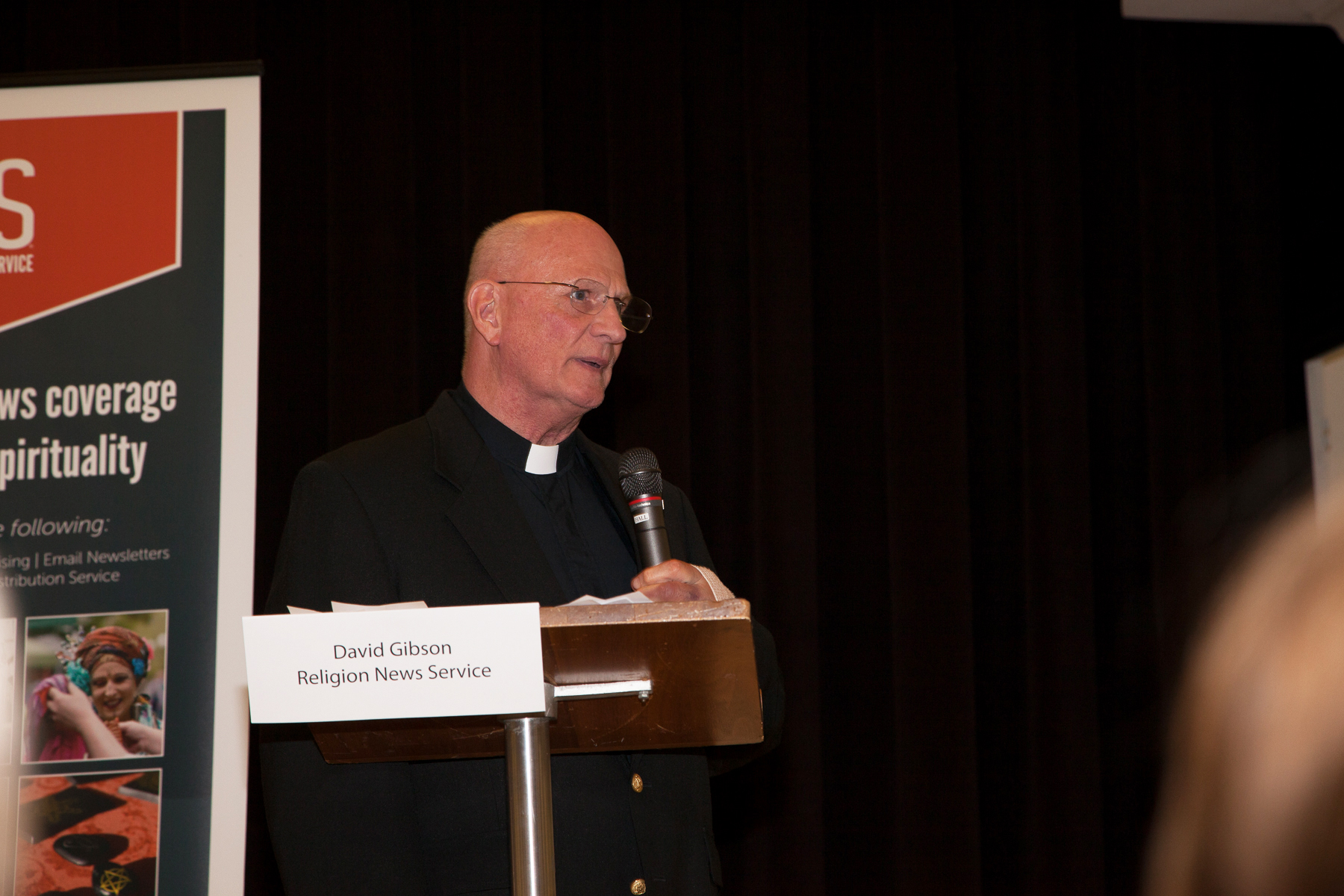 """Monsignor Alan F. Detscher, STD, pastor of St. Catherine of Siena Parish, Riverside, Conn., who co-sponsored with Religion News Service the expert panel discussion, """"Election Aftermath: Faith & the Common Good,"""" held at the parish on Dec. 7, 2016, offers some concluding remarks."""