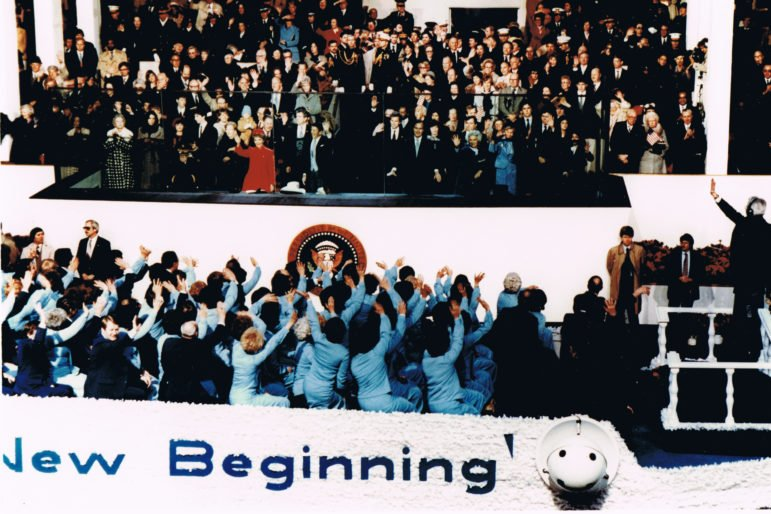 The Mormon Tabernacle Choir singing at Ronald Reagan's first presidential inauguration in 1981. All rights reserved.