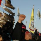 "Native American ""water protectors"" celebrate"