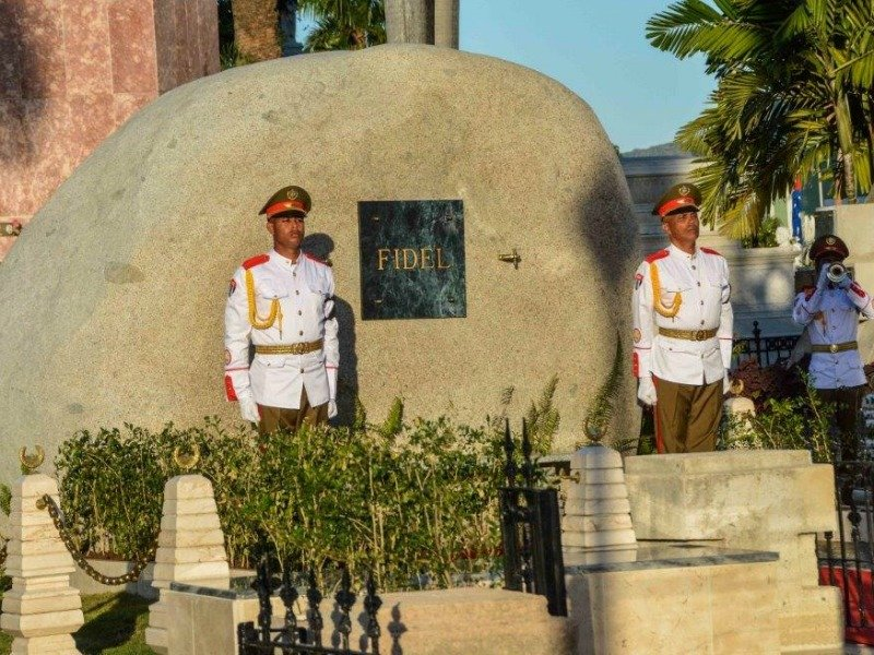 Soldiers stand guard