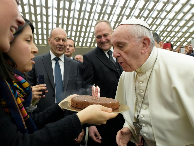 Pope Francis Birthday Cake