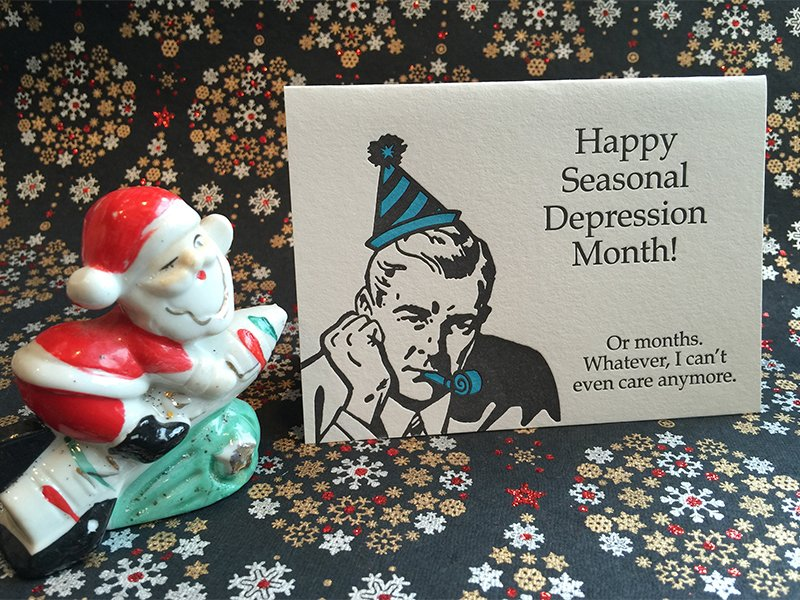 depression anti holiday card rns photo by kimberly winston