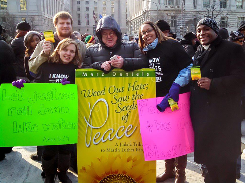 Wesley Theological Seminary students support a Black Lives Matter march to the White House in Washington, D.C. Photo courtesy of Wesley Theological Seminary