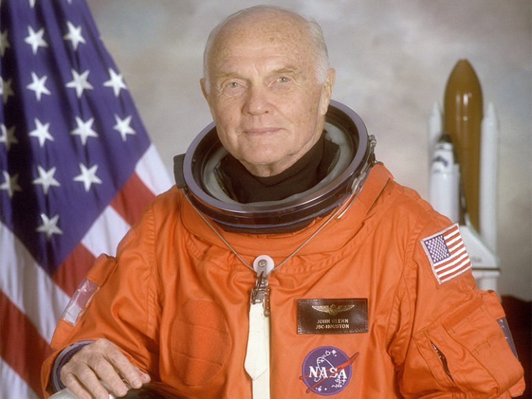 STS-95 crew member, astronaut and U.S. Sen. John Glenn poses for his official NASA photo taken April 14, 1998. In 1962, Glenn became the first American to orbit the Earth, and he returned to space in 1998 aboard the space shuttle Discovery. Photo courtesy of NASA via Reuters