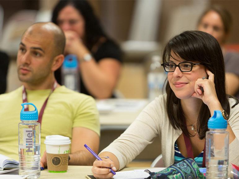 Hillel staff members receive professional development training.  Photo courtesy of Hillel International