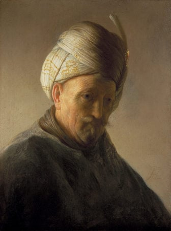 "Rembrandt painting ""Bust of an Old Man with a Turban"" (1627-28). Image courtesy of The Kremer Collection"