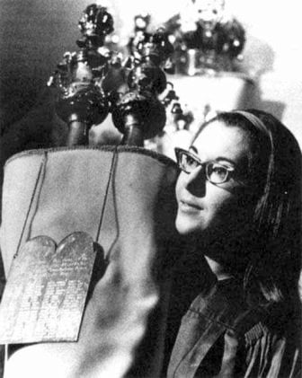 Sally Priesand as a rabbincal student, in her student pulpit in Jackson, Michigan. Photo courtesy of The Jewish Women's Archive