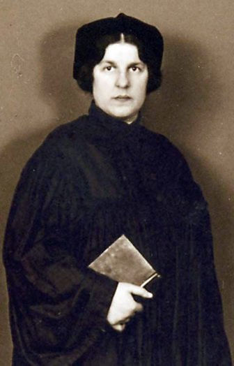 "Regina Jonas, the first woman to be called ""rabbi."" Her seminary refused to ordain her, so she was ordained privately by another rabbi in 1935. She died in Auschwitz in 1944. Photo courtesy of The Jewish Women's Archive"