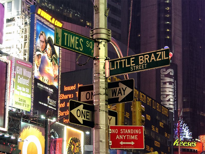 Little Brazil St. in Times Square, photographed on Dec. 15, 2005. Photo courtesy of Diego Torres Silvestre via Creative Commons
