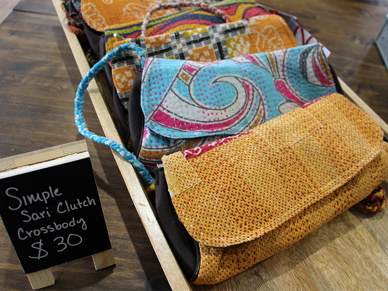 Inside the Freedom Store at Parkview Community Church in Glen Ellyn, IL, on Dec. 9, 2016. The store -- selling items from Sari Bari, The Loyalty Workshop, The Re:New Project and Preemptive Love Coalition -- supports Parkview's Reclaiming Christmas message series and giving initiative focused on refugees. RNS photo by Emily McFarlan Miller
