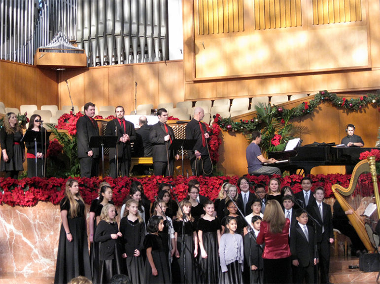 Choirs perform during a Christmas Eve service at Christ Cathedral Catholic Church in Garden Grove, Calif., on Dec. 24, 2010. Photo courtesy of Creative Commons