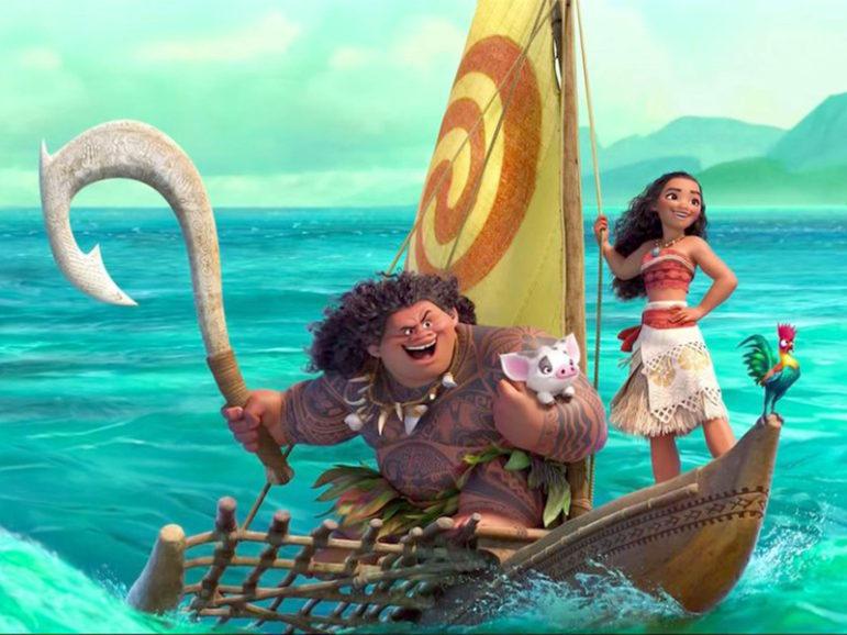 "Disney's ""Moana"" heroine is a spirited Polynesian girl played by Auli'i Cravalho. Dwayne Johnson, who is half Samoan, plays Maui. Image courtesy of Disney Studios"