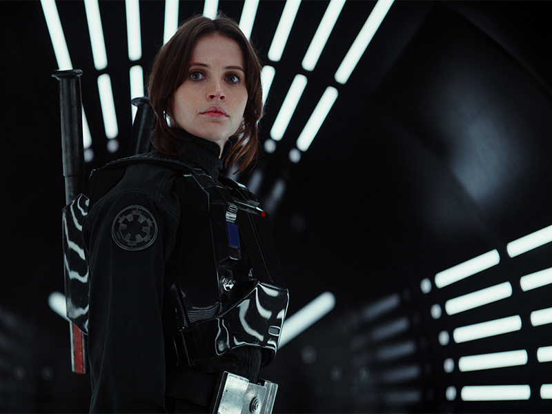 Felicity Jones plays Jyn Erso in Rogue One: A Star Wars Story. Photo courtesy of Lucasfilm