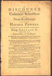 First edition of Mayhew's Discourse