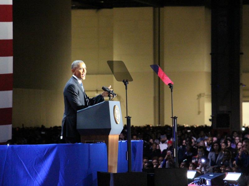 President Barack Obama gives his farewell address