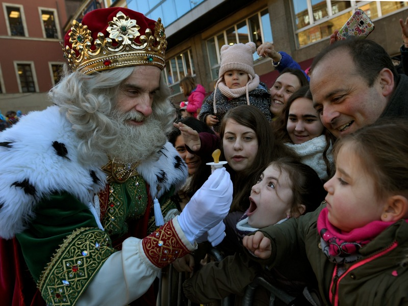 A man dressed as one of the Three Kings