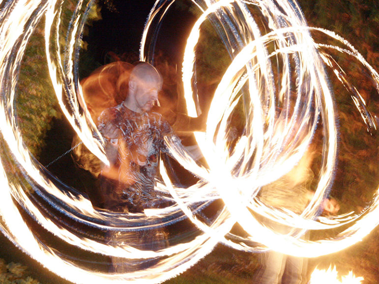 A long exposure of a poi performance on Sept. 26, 2008.  Photo courtesy of Creative Commons