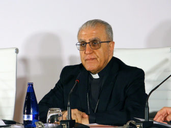 Chaldean Archbishop Yousif Mirkis of Kirkuk, Iraq, on April 18, 2015 at the We Are All Nazarenes conference in Madrid, Spain. Photo courtesy of HazteOir.org via Creative Commons