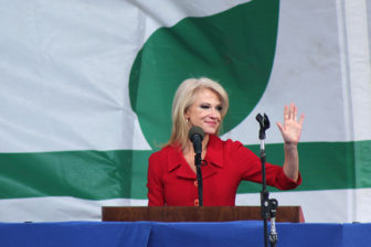 Kellyanne Conway speaks during the March for Life rally on Jan. 27, 2017, in Washington, D.C. RNS photo by Adelle M. Banks