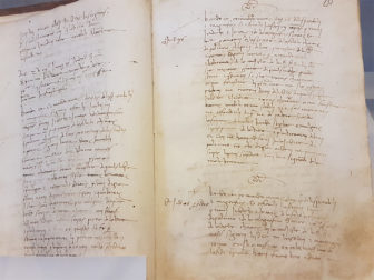 The original Expulsion Edict of 1493 from the King and Queen of Spain written in Sicilian. The decree demanded the expulsion of Jews from Sicily during the Spanish Inquisition. Photo courtesy of Shavei Israel