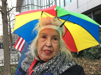 Trump supporter Olga Smith from Houston, Texas, in Washington, D.C., on Jan. 20, 2017. RNS photo by Lauren Markoe